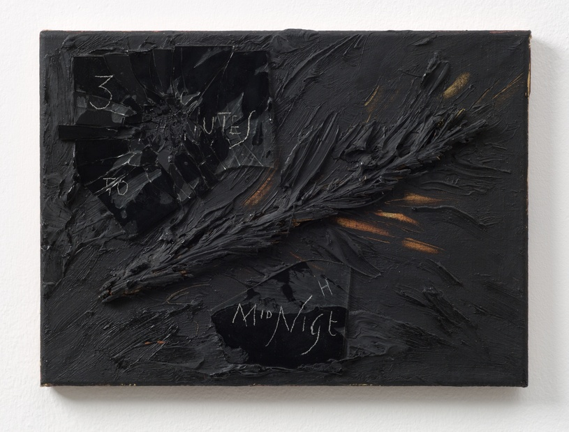 Three Minutes to Midnight, 1986 Oil and mixed media on canvas 26 x 35.6 cm 10 1/4 x 14 in