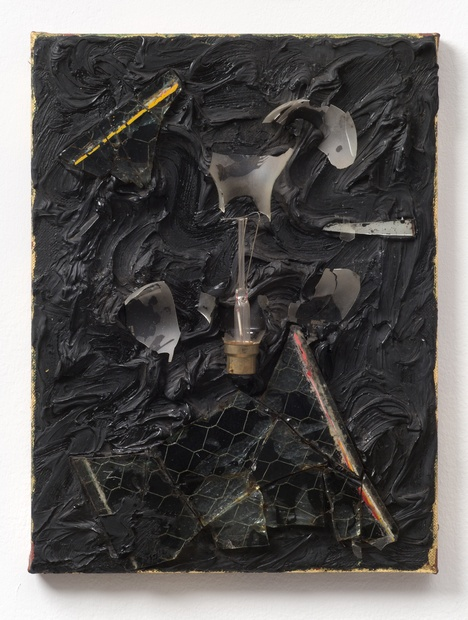 Night Light, 1986 Oil and mixed media on canvas 41.3 x 30.5 cm 16 1/4 x 12 in